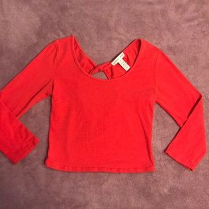 🔥4/20! Ambiance apparel red crop top